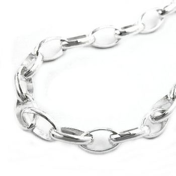 Collier, Ankerkette oval, Silber 925 50cm