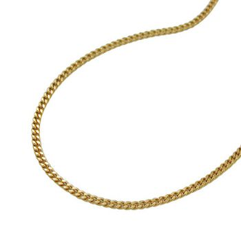 Collier Panzerkette 9Kt GOLD diamantiert 1 mm