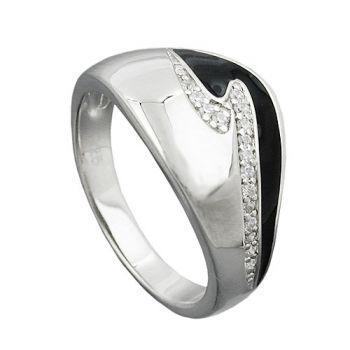 schmuck juweliere ring schwarz mit zirkonias silber 925. Black Bedroom Furniture Sets. Home Design Ideas