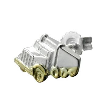 Stecker, Single-Truck bicolor Silber 925