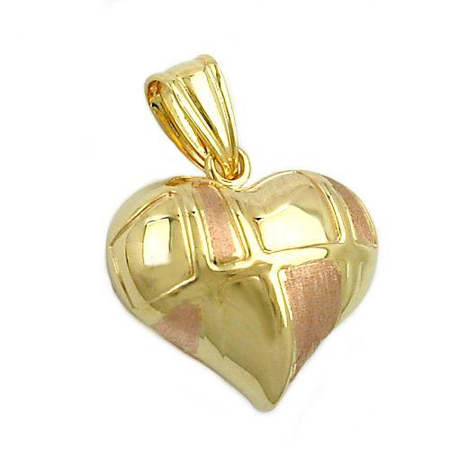 schmuck juweliere anh nger herz bicolor 9kt gold. Black Bedroom Furniture Sets. Home Design Ideas