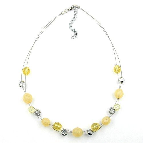 Schmuck-Juweliere Collier, Glas gelb-kristall, Draht 44cm - günstig ...