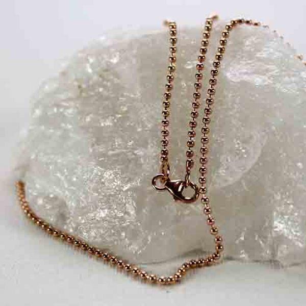 Kugelkette rosevergoldet 925 silber, 65cm