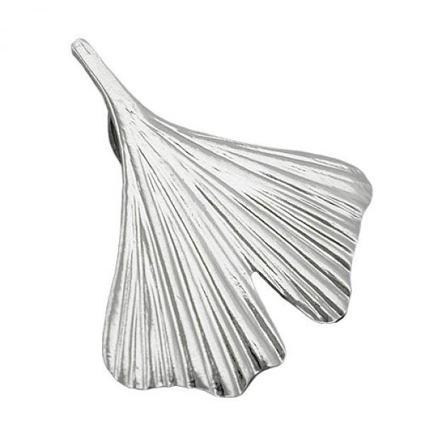 Anhänger, 20mm Ginkgoblatt Silber 925