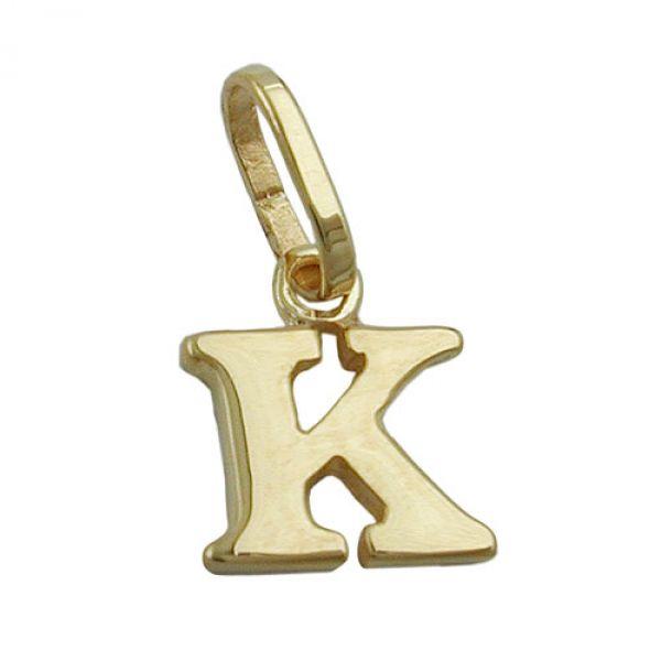 Anhänger, Buchstabe K, 9Kt GOLD