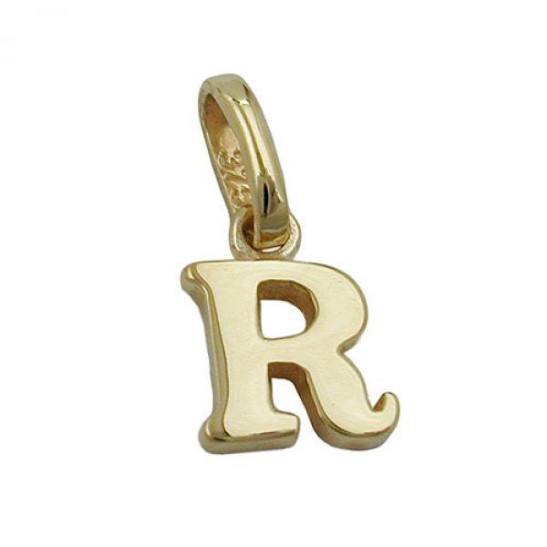 Anhänger, Buchstabe R, 9Kt GOLD