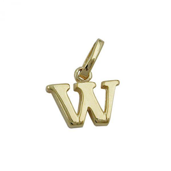 Anhänger, Buchstabe W, 9Kt GOLD