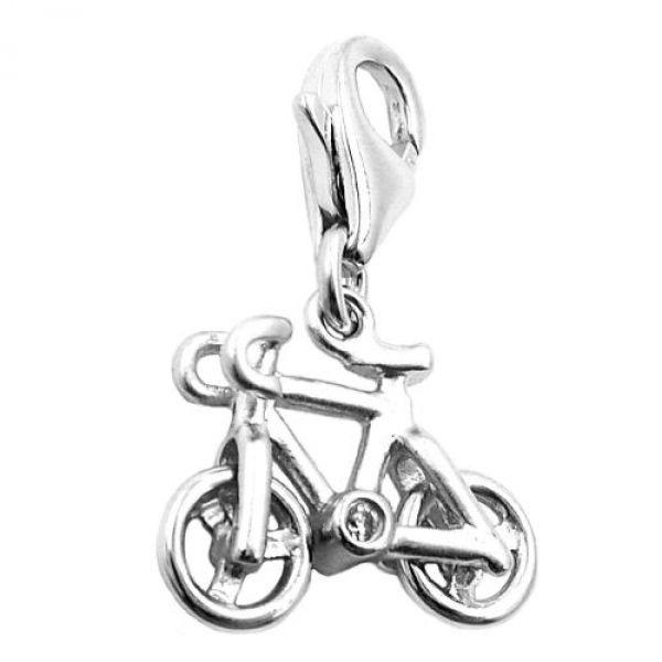 Anhänger, Charm Fahrrad, Silber 925