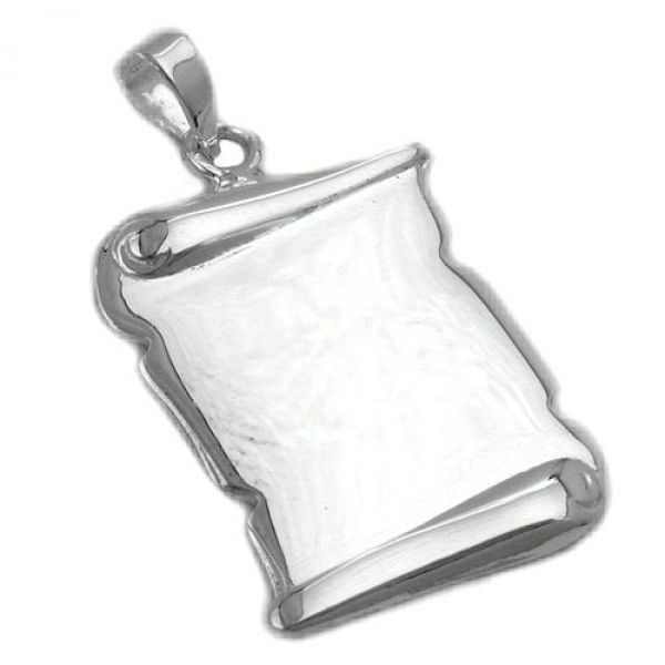Anhänger, Dokumentrolle glzd Silber 925