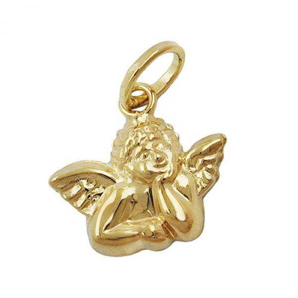 Anhänger, Engel glänzend, 9Kt GOLD