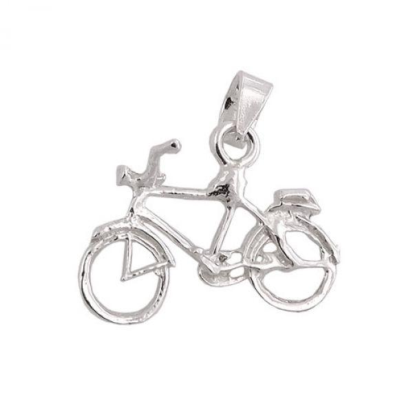Anhänger, Fahrrad, Silber 925