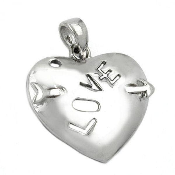Anhänger, Herz mit Pfeil, Love, 925