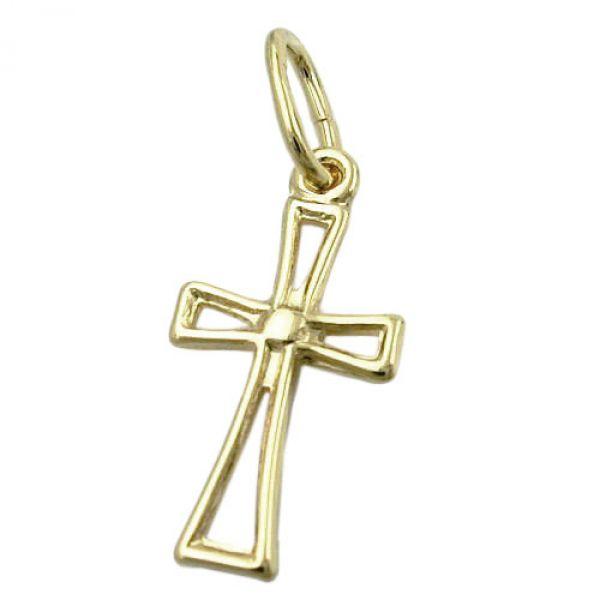 Anhänger, Kreuz durchbrochen, 8Kt GOLD