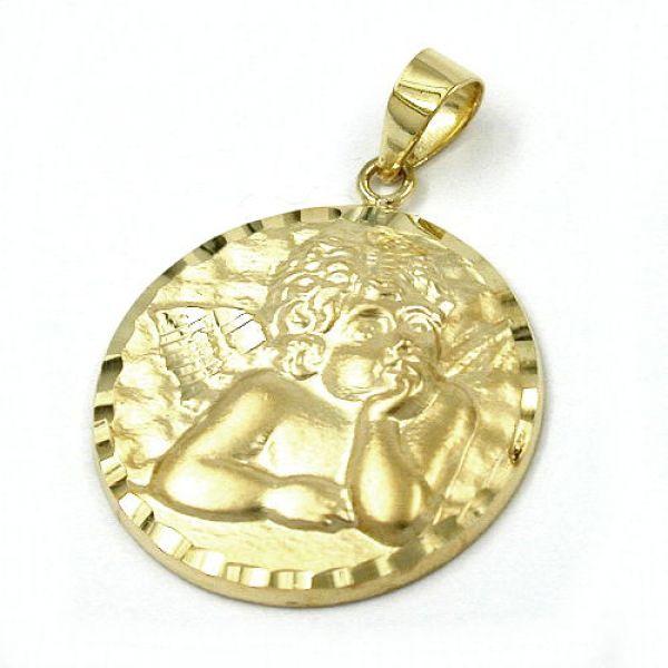 Anhänger, mit Engelmotiv 14Kt GOLD