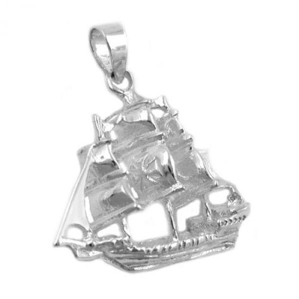 Anhänger, Schiff, Silber 925