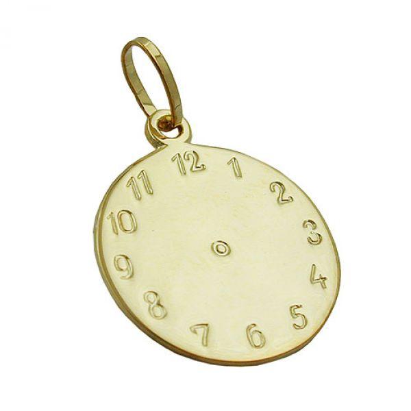 Anhänger, Uhr Geburtsanhänger 9Kt GOLD