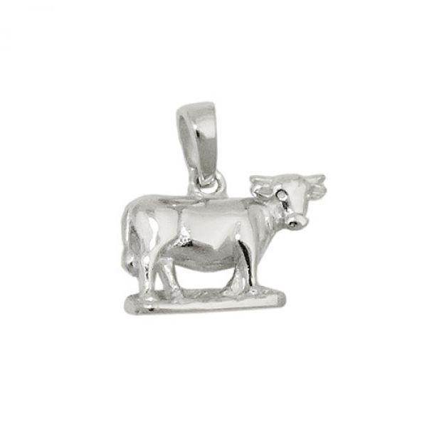 Anhänger Kuh rhodiniert, Silber 925