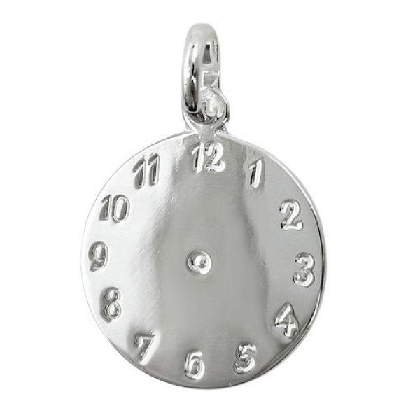Anhänger Uhr Geburtsanhänger Silber 925
