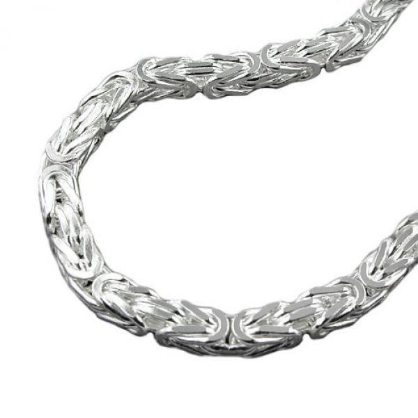 Armband, 7mm Königskette, Silber 925 23cm