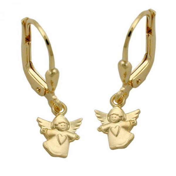 Brisur, fliegender Engel, 9Kt GOLD