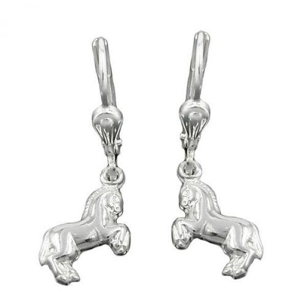 Brisur, Pferde rechts/links, Silber 925