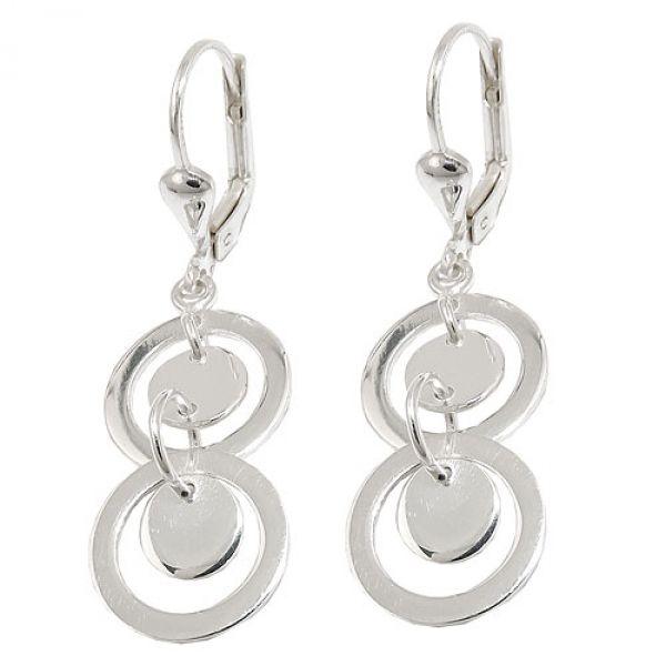 Brisur, Ringe doppelt, Silber 925