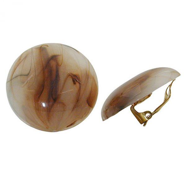 Clip, 30mm, Riss, braun-horn-marmoriert