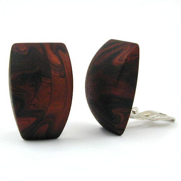 Clip, Trapez, braun-metallic marmor matt