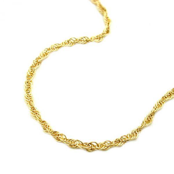 Collier, Anker gedreht 42cm, 14Kt GOLD 42cm