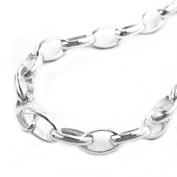 Collier, Ankerkette oval, Silber 925 42cm