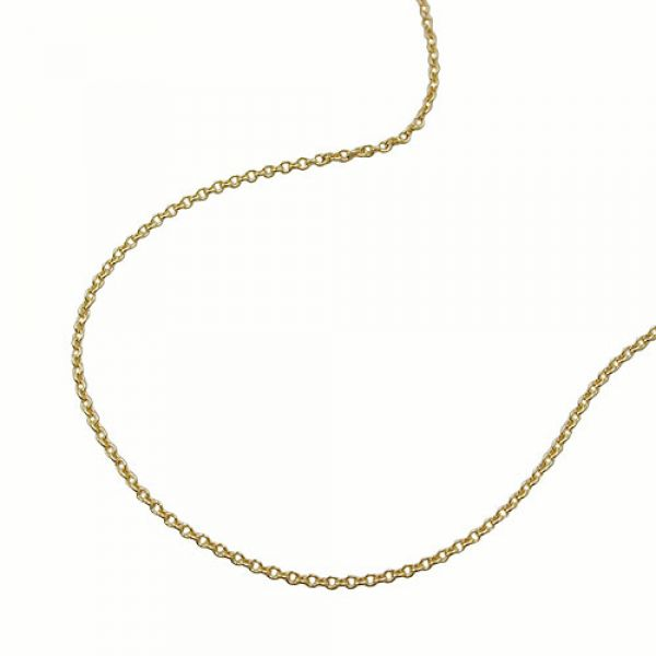 Collier, dünne Ankerkette 38cm, 9Kt GOLD 38cm