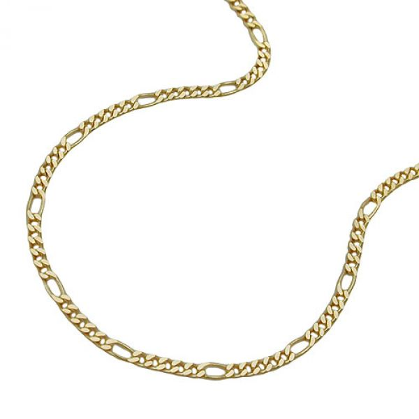 Collier, Figarokette 45cm, 9Kt GOLD 45cm