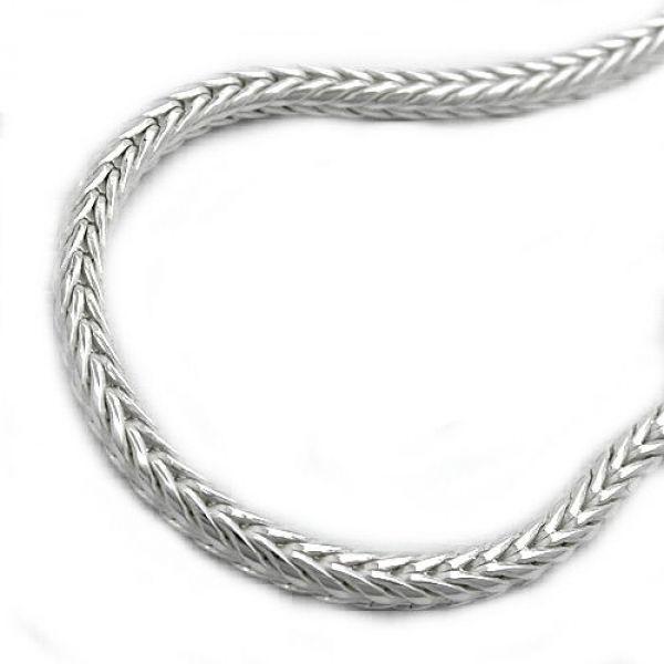 Collier, Fuchsschwanz, Silber 925 60cm