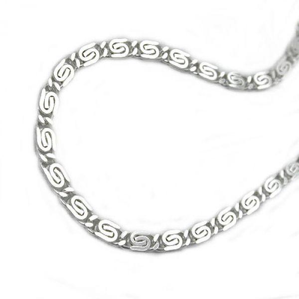 Collier, S-Panzer diamantiert Silber 925 45cm