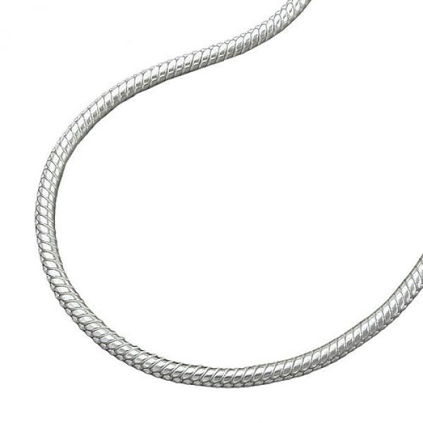 Collier, Schlange 1,3mm rund Silber 925 36cm