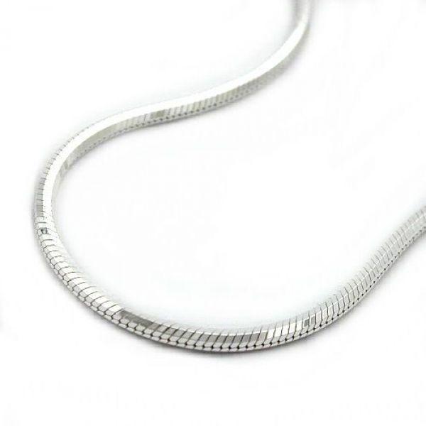 Collier, Schlange 5-kant, Silber 925 42cm