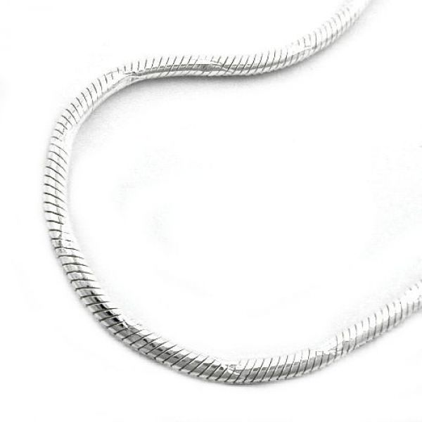 Collier, Schlange diamantiert Silber 925 40cm