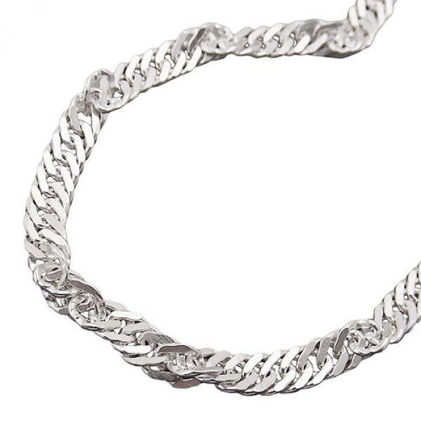 Collier, Singapur diamantiert Silber 925 45cm