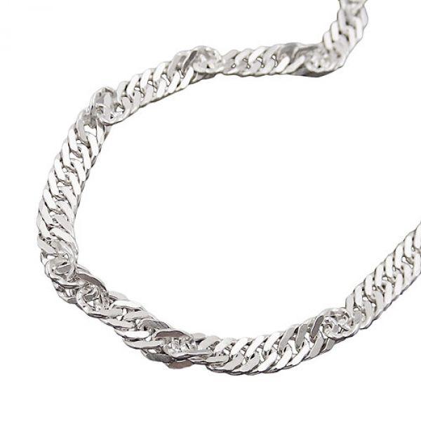 Collier, Singapur diamantiert Silber 925 55cm
