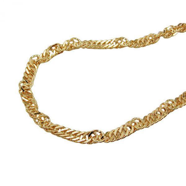 Collier, Singapurkette 50cm, 9Kt GOLD 50cm