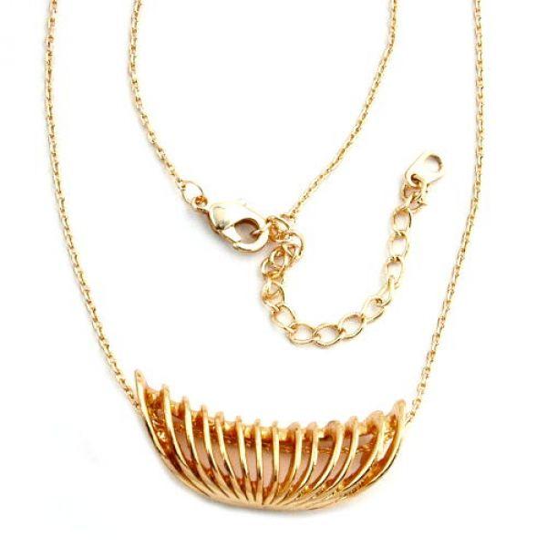 Collier, Spirale, kupferfarbig 40cm