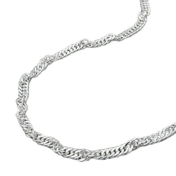 Collier Singapur diamantiert Silber 925 36cm