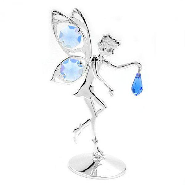 Elfe, mit Glas-Steinen hellblau