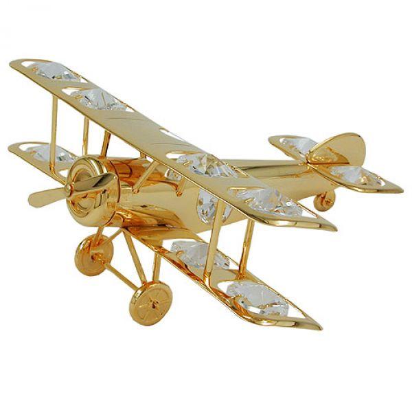 Flugzeug, mit Glas-Steinen