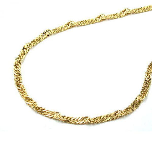 Kette, 45cm, Singapur, 9Kt GOLD 45cm