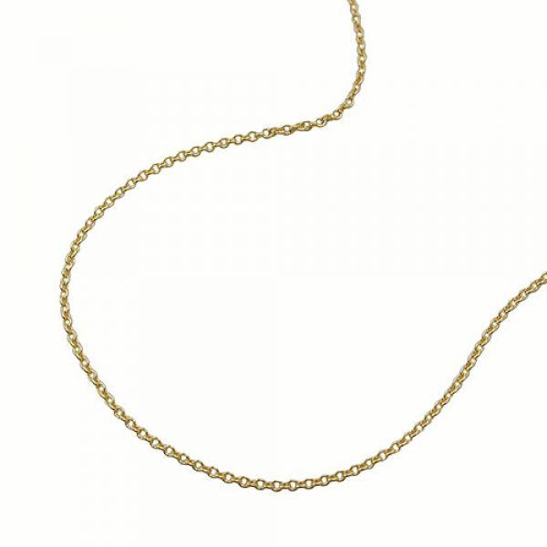 Kette, 50cm, dünne Ankerkette, 9Kt GOLD