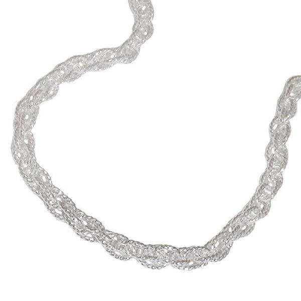 Kette, Doppelanker 45cm, Silber 925