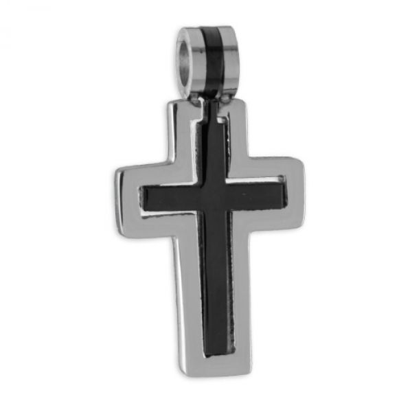 Kreuzanhänger 2-teilig - Edelstahl