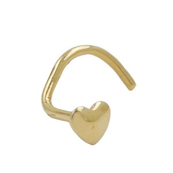 Nasenstecker, kleines Herz, 18 Kt GOLD