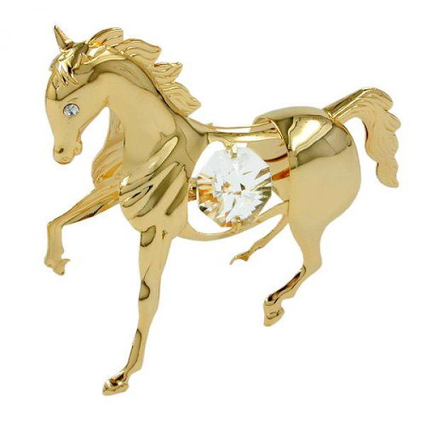 Pferd, mit Glas-Steinen